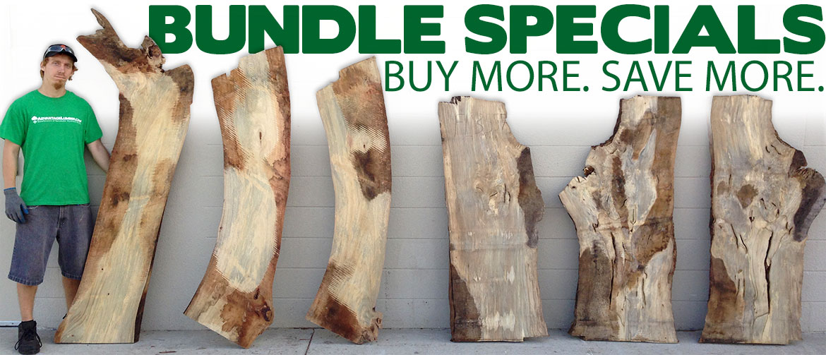wood slab bundles
